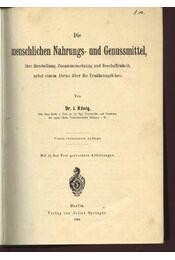 Die menschlichen Nahrungs- und Genussmittel - Régikönyvek