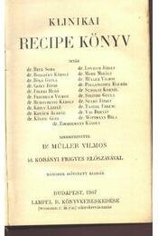 Klinikai recipe könyv 1907 - Régikönyvek
