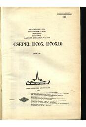 CSEPEL D705, D705.10 - Régikönyvek