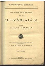 A magyar Szent Korona országának 1910. évi népszámlálása - Régikönyvek