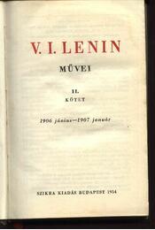V. I. Lenin művei II. kötet - Régikönyvek