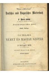 Uj teljes német és magyar szótár - Régikönyvek