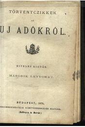 1875. évi XIX-XXIX., 1876. évi V. VI. XIII., XIV., XV. törvényczikkek - Régikönyvek