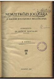 Nemzetközi jog tára II.kötet - Régikönyvek