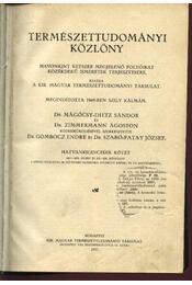 Természettudományi közlöny 1067-1078. füzet és 205-208. pótfüzet - Régikönyvek