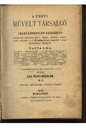 A pesti művelt társalgó - Régikönyvek