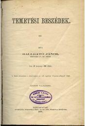 Temetési beszédek - Régikönyvek