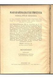 Rendészet - Régikönyvek