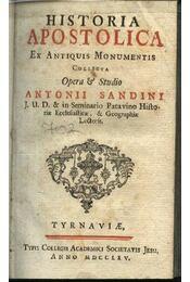 Historia Apostolica ex antiquis monumentis - Régikönyvek