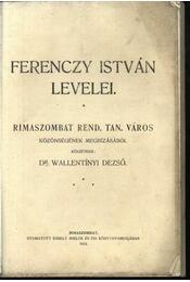 Ferenczy István levelei - Régikönyvek