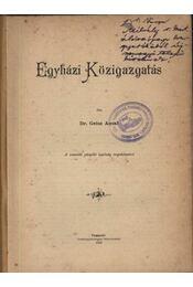 Egyházi Közigazgatás - Régikönyvek