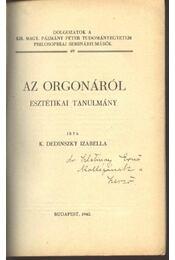 Az orgonáról - Régikönyvek