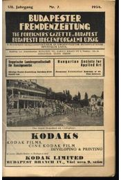 Budapesti Idegenforgalmi Újság, The forigners' gazette of Budapest, Budapester Fremdenzeitung 1934. Nr. 7. - Régikönyvek