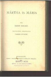 Mártha és Mária - Régikönyvek