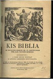 Római katolikus kis biblia - Régikönyvek