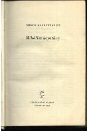Mihálisz kapitány - Régikönyvek