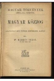 Magyar közjog - Régikönyvek