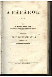 A pápáról - Régikönyvek