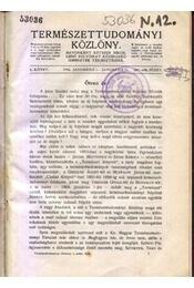 Természettudományi közlöny L. kötet - Régikönyvek