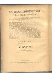Közjog - Régikönyvek