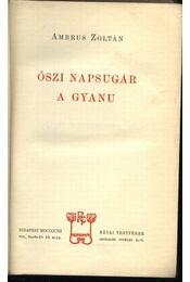 Őszi napsugár - Régikönyvek