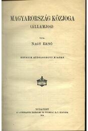 Magyarország közjoga - Régikönyvek