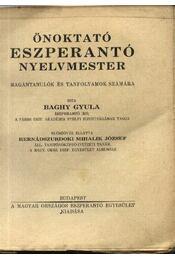 Önoktató eszperantó nyelvmester - Régikönyvek