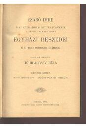 Szabó Imre egyházi beszédei II kötet - Régikönyvek