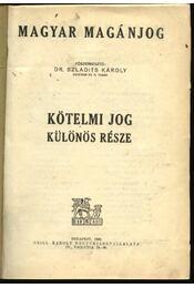Magyar magánjog IV. - Régikönyvek