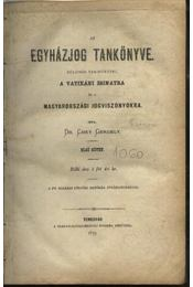 Az egyházjog tankönyve - Régikönyvek