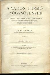 A vadon termő gyógynövények - Régikönyvek
