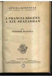A francia regény a XIX. században - Régikönyvek