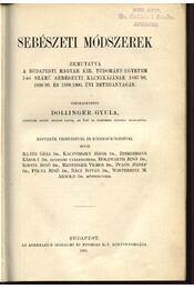 Sebészeti módszerek - Régikönyvek