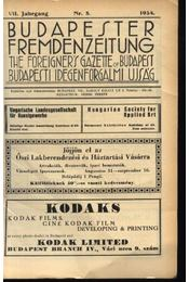 Budapesti Idegenforgalmi Újság, The forigners' gazette of Budapest, Budapester Fremdenzeitung 1934. Nr. 11. - Régikönyvek