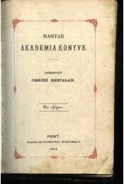 Magyar Akadémia Könyve - Régikönyvek