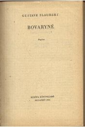 Bovaryné - Régikönyvek