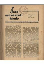 Fotoművészeti Hírek 1934. év - Régikönyvek