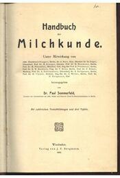 Handbuch der Milchkunde - Régikönyvek