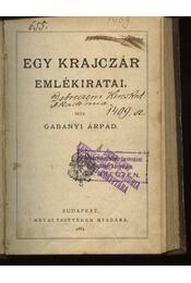 Egy krajczár emlékiratai - Régikönyvek