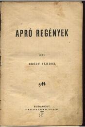 Apró regények - Régikönyvek