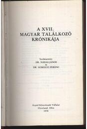 A XVII. Magyar Találkozó krónikája 1978. - Régikönyvek