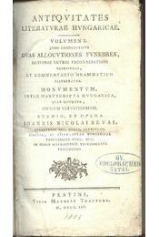Antiqvitates Literatvrae Hvngaricae - Régikönyvek
