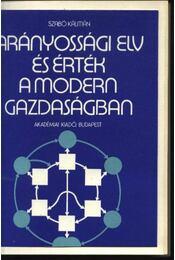 Arányossági elv és érték a modern gazdaságban - Régikönyvek