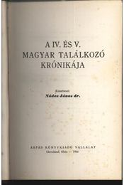 A IV. és V. Magyar Találkozó krónikája 1966. - Régikönyvek