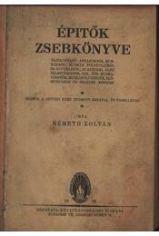 Építők zsebkönyve - Régikönyvek