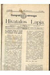 Csongrád vármegye Hivatalos Lapja 1912. - Régikönyvek