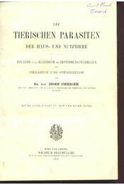 Die Tierischen Parasieren der Haus- und Nutztiere - Régikönyvek