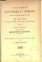 Csanád-egyházmegyei zarándoklat Rómába - Régikönyvek