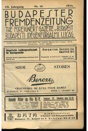 Budapesti Idegenforgalmi Újság, The forigners' gazette of Budapest, Budapester Fremdenzeitung 1934. Nr. 10. - Régikönyvek