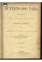 Büntetőjog tára, Polgári törvénykezés XIX. kötet (1890. év) - Régikönyvek